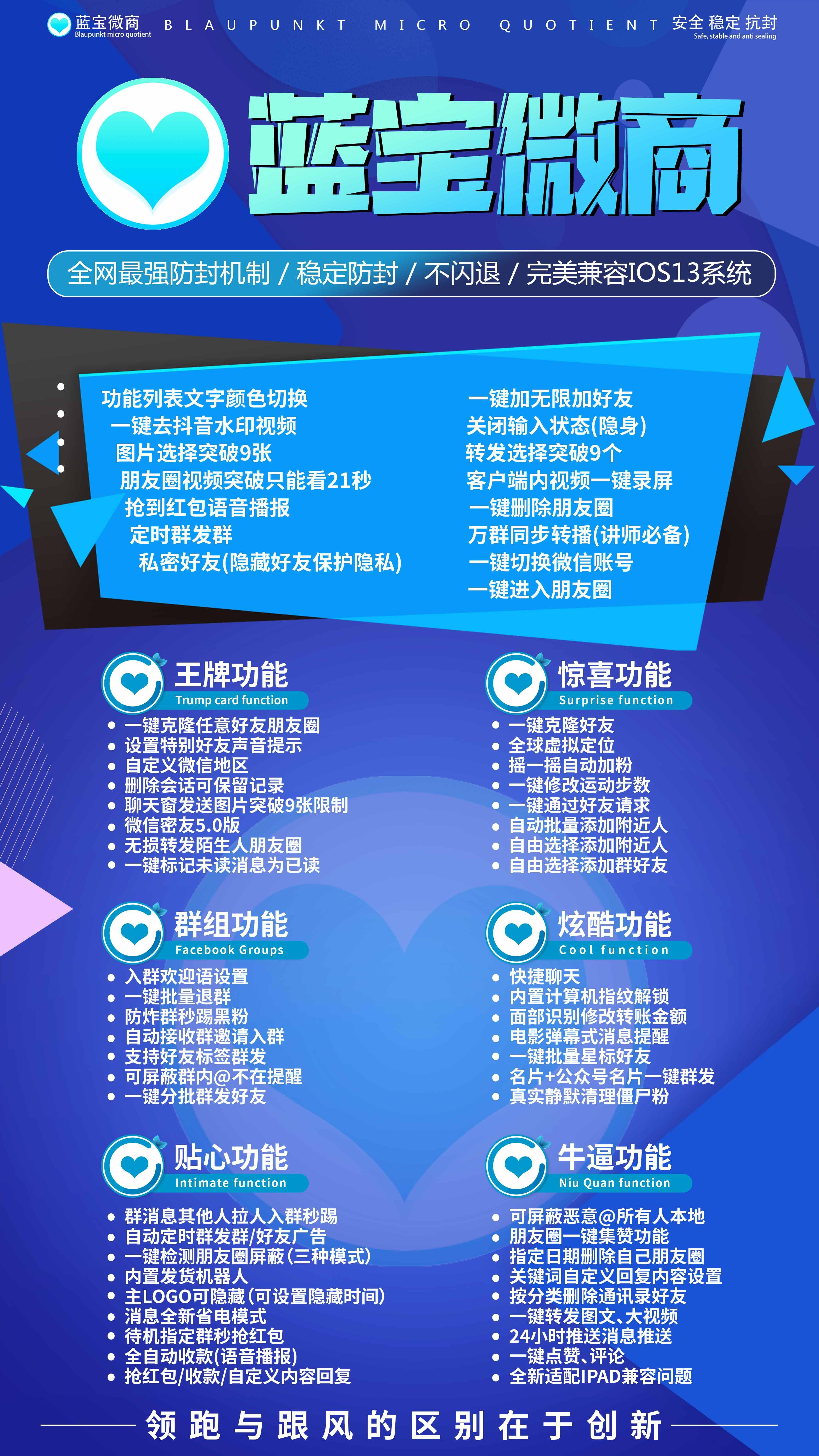 【蓝宝微商官网】苹果高端一码双开超级防封兼容ios13系统正版激活码授权