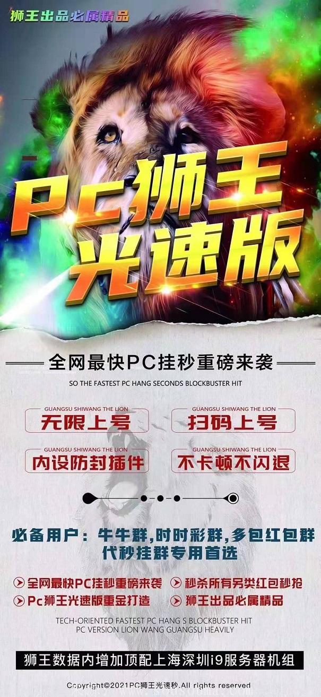 【Pc狮王光速版】Pc狮王微信双号增强版大小接  玩法 (免死ID)